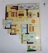 越秀滨海御城3室2厅2卫108平方米户型图