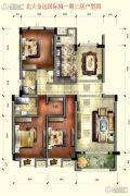 北大・金远国际城3室2厅2卫120平方米户型图