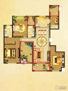 国润溪香米兰4室2厅3卫176平方米户型图
