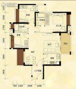 涛汇尚品3室2厅2卫110平方米户型图