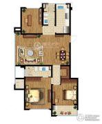 翠屏诚园3室2厅2卫119平方米户型图