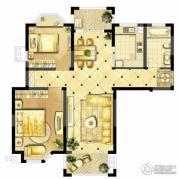 诚河新旅城2室2厅1卫91平方米户型图