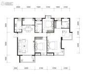 国贸商城・同悦3室2厅2卫0平方米户型图