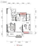 融侨观澜2室2厅2卫100平方米户型图