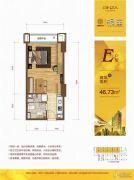 众安・朝阳银座1室1厅1卫46平方米户型图