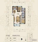 三田雍泓・青海城2室2厅2卫104平方米户型图