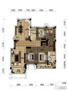 观山悦公馆4室2厅2卫180平方米户型图