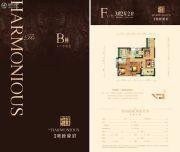 向西雍睦豪庭3室2厅2卫86--89平方米户型图