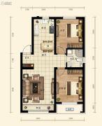 融创城2室2厅1卫78平方米户型图