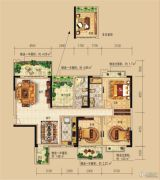 远辰龙湾名郡3室2厅2卫135--138平方米户型图