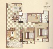 霞浦安大名城3室2厅2卫87平方米户型图