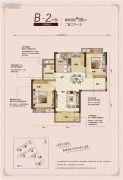 汇悦天地2室2厅1卫88平方米户型图