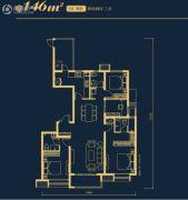 万科高新华府4室2厅3卫146平方米户型图