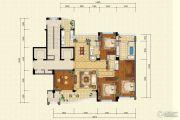 绿城长兴广场4室2厅3卫218平方米户型图
