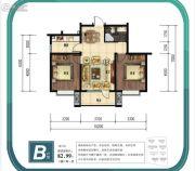 金山九泷湾2室2厅1卫82平方米户型图