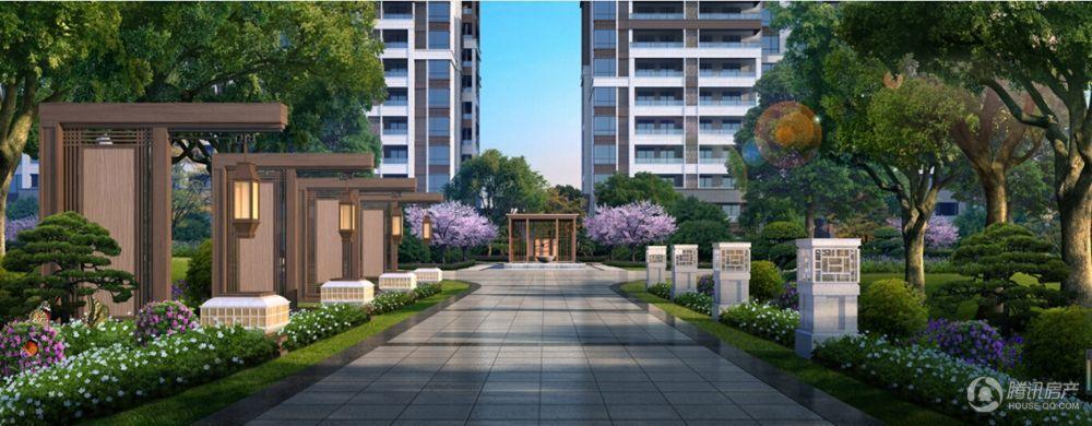 西房·余杭公馆中轴景观效果图