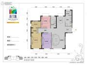 大都会・壹号公馆3室2厅2卫0平方米户型图