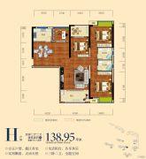 南湖颐景4室2厅2卫138平方米户型图