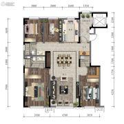 万科时代之光4室2厅2卫143平方米户型图