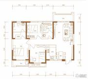 东胜紫御府3室2厅2卫121平方米户型图