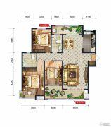 润德天悦城3室2厅2卫0平方米户型图
