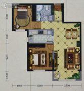 海亮熙岸华府2室2厅1卫78平方米户型图