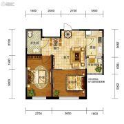 五矿・弘园2室2厅1卫67平方米户型图