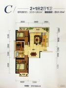 科瑞・江韵3室2厅1卫103--106平方米户型图
