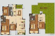 正商公主湖5室3厅2卫180平方米户型图