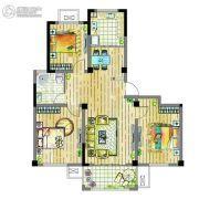 翰林御花园3室2厅1卫0平方米户型图