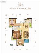 龙记玖玺3室2厅1卫85平方米户型图