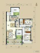 丽港华府4室2厅3卫161平方米户型图
