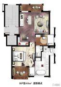 楠溪・云岚2室1厅2卫83平方米户型图