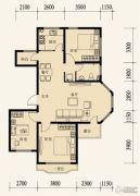 东地天澜3室2厅1卫106平方米户型图