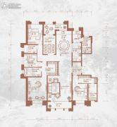 铂宫后海5室3厅4卫288平方米户型图