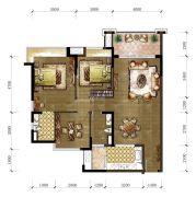 东城温泉里3室2厅2卫115平方米户型图