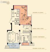 金轮星光名座生活广场1室2厅1卫69平方米户型图