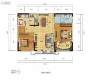 锦汇城2室2厅1卫77平方米户型图