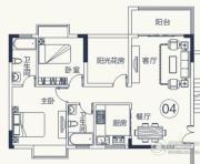 怡泰雅苑3室2厅2卫89平方米户型图
