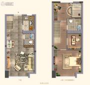 阳光城・大都会3室1厅2卫42平方米户型图