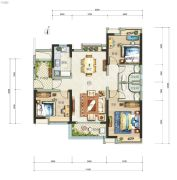 广州亚运城3室2厅2卫117平方米户型图