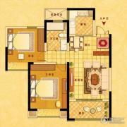 中南世纪花城2室2厅1卫89平方米户型图
