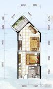 龙光阳光海岸1室1厅1卫60平方米户型图