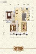 上官锦城2室2厅1卫77平方米户型图