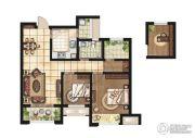 康桥悦岛2室2厅1卫87平方米户型图