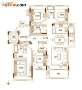 南湾・琨御府4室2厅2卫155平方米户型图