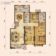保利海上五月花3室2厅2卫145平方米户型图