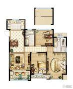 紫金上品苑3室2厅2卫109平方米户型图