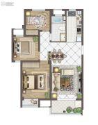 苏胥湾3室2厅1卫95平方米户型图