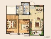 和达城上城2室2厅1卫88平方米户型图